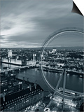 Houses of Parliament and Millennium Wheel, London, England Prints by Doug Pearson