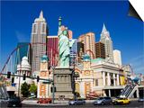 Nevada, Las Vegas, Statue of Liberty and New York New York City Skyline Reproduction, USA Posters by Christian Kober