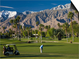 California, Palm Springs, Desert Princess Golf Course and Mountains, Winter, USA Posters by Walter Bibikow