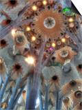 Interior of Basilica Sagrada Familia, Barcelona, Catalonia, Spain Prints by Ivan Vdovin