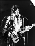 Prince, Rocks the Stage During His Purple Rain Tour in 1984 Posters by Vandell Cobb