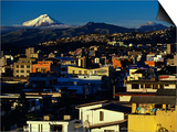 Sunrise on the City and Cotapaxi Volcano, Quito, Ecuador Prints by Paul Harris