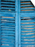 Window Shutters in Ibiza Town, Ibiza, Balearic Islands, Spain Prints by Neil Farrin