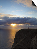 The Midnight Sun Breaks Through the Clouds at Nordkapp, Finnmark, Norway Posters by Doug Pearson