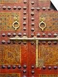 Ornate Door, Sidi Ahmed Tijani Mosque, the Medina, Fes, Morocco Poster by Doug Pearson