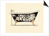 Floral Bath Posters by Marco Fabiano