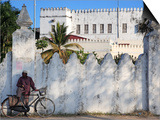 Zanzibari Man and His Bicycle, Stone Town, Zanzibar, Tanzania Posters by Steve Outram
