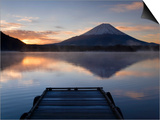 Lake Shoji-Ko and Mount Fuji, Fuji-Hakone-Izu National Park, Japan Print by Gavin Hellier