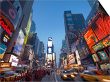 Manhattan Times Square, New York City, USA Art by Alan Copson