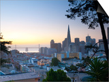 California, San Francisco, Downtown and Transamerica Building, USA Print by Alan Copson