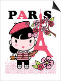 Paris Cutie Art by Joan Coleman