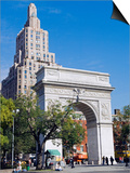 Washington Arch Stands in Washington Place with Backdrop of High Rise Buildings, Greenwich Village Prints by John Warburton-lee