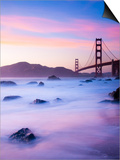 California, San Francisco, Golden Gate Bridge from Marshall Beach, USA Art by Alan Copson