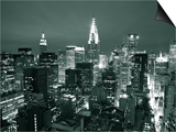 Chrysler Building and Midtown Manhattan Skyline, New York City, USA Posters by Jon Arnold