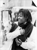 Comedian Whoopi Goldberg with Her Scottish Terrier Otis Prints by Moneta Sleet