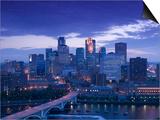 Skyline of Minneapolis, Minnesota, USA Poster by Walter Bibikow