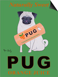 Pug Orange Juice Prints by Ken Bailey