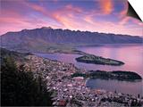 Queenstown, Lake Whakatipu, New Zealand Art by Doug Pearson