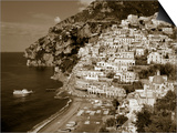Village of Positano, Amalfi Coast, Campania, Italy Posters by Steve Vidler