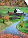 USA, New England, Vermont, Woodstock, Sleepy Hollow Farm in Autumn/Fall Art by Michele Falzone