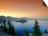 Oregon, Crater Lake National Park, Crater Lake and Wizard Island, USA Prints by Michele Falzone