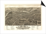 Youngstown, Ohio - Panoramic Map Print by  Lantern Press