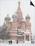 St. Basil's Cathedral, Red Square, Moscow, Russia Art by Ivan Vdovin