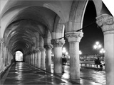 Columns of the Doge's Palace at Night, Venice, Veneto Region, Italy Prints by Nadia Isakova