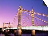 Albert Bridge, Chelsea, London, England Posters by Steve Vidler