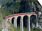 Glacier Express and Landwasser Viaduct, Filisur, Graubunden, Switzerland Posters by Doug Pearson