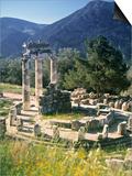 Sanctuary of Athena Pronaia, Delphi, Greece Poster von Peter Adams