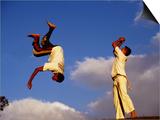 Two Boys Practice Capoeira, the Brazilian Martial Art Prints by Camilla Watson