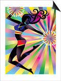 Colorful Sunburst on Cheerleader Prints