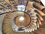Spiral Staircase, Seaton Delaval Hall, Northumberland, England, UK Kunstdrucke von Ivan Vdovin