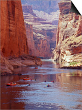 Arizona, Grand Canyon, Kayaks and Rafts on the Colorado River Pass Through the Inner Canyon, USA Prints by John Warburton-lee