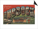Lubbock, Texas - Texas Tech Print by  Lantern Press