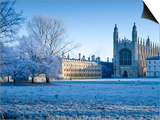 UK, England, Cambridgeshire, Cambridge, the Backs, King's College Chapel in Winter Prints by Alan Copson