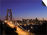 California, San Francisco, Oakland Bay Bridge and City Skyline, USA Posters by Michele Falzone