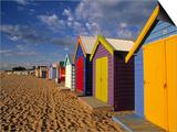 Bathing Huts, Port Phillip Bay, Melbourne, Victoria, Australia Print by Doug Pearson