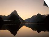 Milford Sound / Mitre Peak, Fjordland National Park, South Island, New Zealand Posters by Steve Vidler