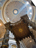 Detail of Bernini's Baroque Baldachin, St Peter's Basilica, Rome, Italy Art by Michele Falzone