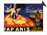 France - Fap'Anis Celui Des Connaisseurs Advertisement Poster Art by  Lantern Press