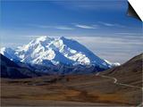Mount Mckinley, Denali National Park, Alaska, USA Posters by John Warburton-lee