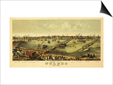 Toledo, Ohio - Panoramic Map Prints by  Lantern Press