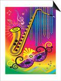 Colorful Symbols of Mardi Gras Art