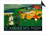 St. Andrews Vintage Poster - Europe Posters by  Lantern Press