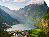 Norway, Western Fjords, Geiranger Fjord Poster by Shaun Egan