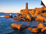 Ploumanach Lighthouse, Cote de Granit Rose, Cotes d'Amor, Brittany, France Prints by Doug Pearson