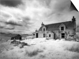 Infrared Image of a Derelict Farmhouse Near Arivruach, Isle of Lewis, Hebrides, Scotland, UK Prints by Nadia Isakova