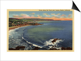 Laguna Beach, California - Aerial of the Coves Along the Coast Prints by  Lantern Press